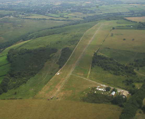 Dartmoor Gliding Society from the Air